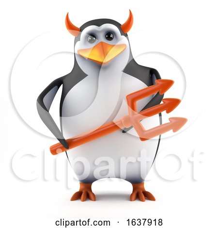 3d Penguin Tempts You, On a White Background by Steve Young