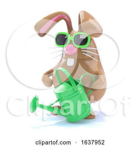 3d Horticultural Bunny, On a White Background by Steve Young