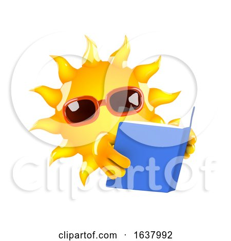 3d Sun Reader, On a White Background by Steve Young