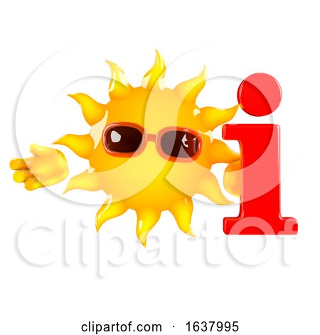 3d Sun Info, On a White Background by Steve Young