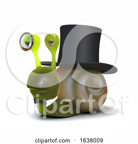 3d Lord Snail, On a White Background by Steve Young