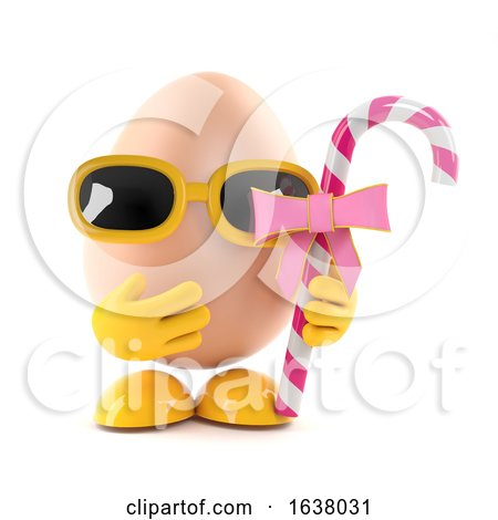3d Egg Candy Treat, On a White Background by Steve Young