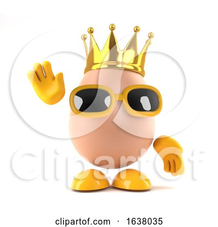 3d King Egg, On a White Background by Steve Young