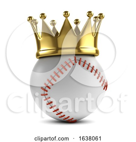 3d Baseball Champion, On a White Background by Steve Young