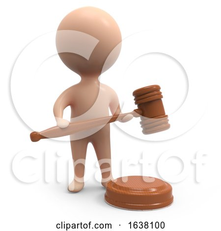 3d Little Auctioneer, On a White Background by Steve Young