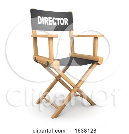 3d Directors Chair, On a White Background by Steve Young