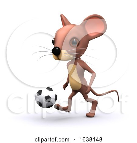 3d Football Mouse, On a White Background by Steve Young