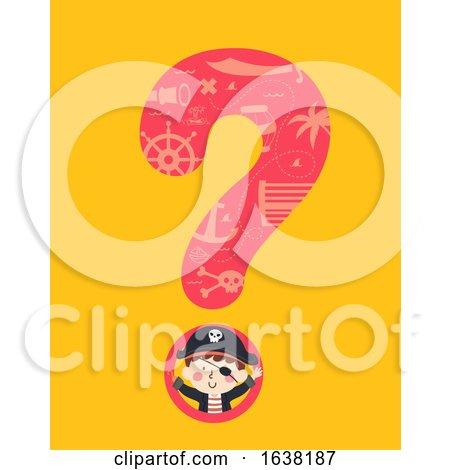 Kid Wave Pirate Question Mark Illustration by BNP Design Studio