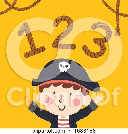 Kid Boy Pirate 123 Rope Illustration by BNP Design Studio