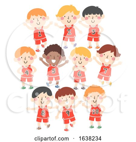 Kids Boys Sport Jersey Numbers Illustration by BNP Design Studio
