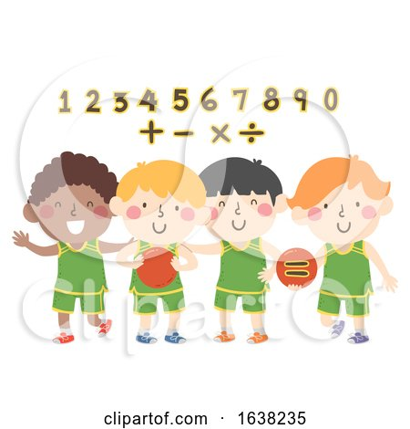 Kids Boys Basketball Numbers Math Illustration by BNP Design Studio