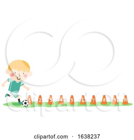 Kid Boy Football Training Cones Numbers by BNP Design Studio