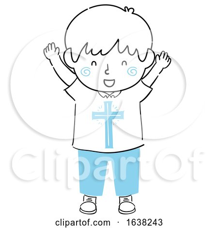 Kid Boy Doodle Christ Within Illustration by BNP Design Studio