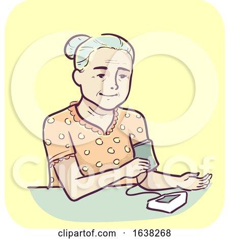 Senior Woman High Blood Pressure Monitor by BNP Design Studio
