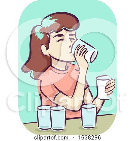 Girl Symptom Increased Thirst Illustration by BNP Design Studio