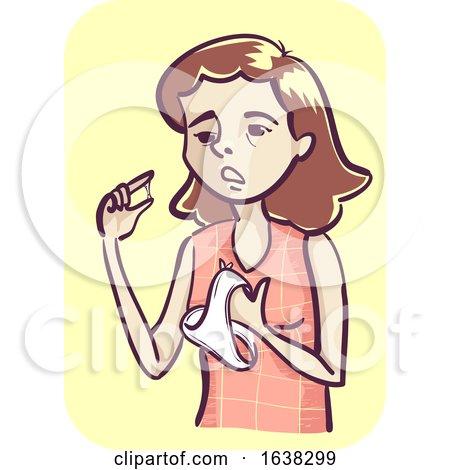 Girl Vaginal Discharge Illustration by BNP Design Studio