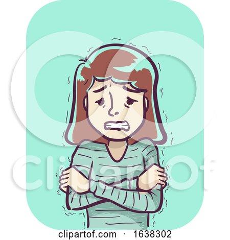 Girl Symptom Cold Shaking Illustration by BNP Design Studio