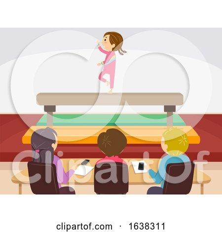 Stickman Kid Girl Qatar Judges Illustration by BNP Design Studio