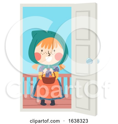 Kid Girl Sweden Easter Witch Candy Illustration Posters, Art Prints
