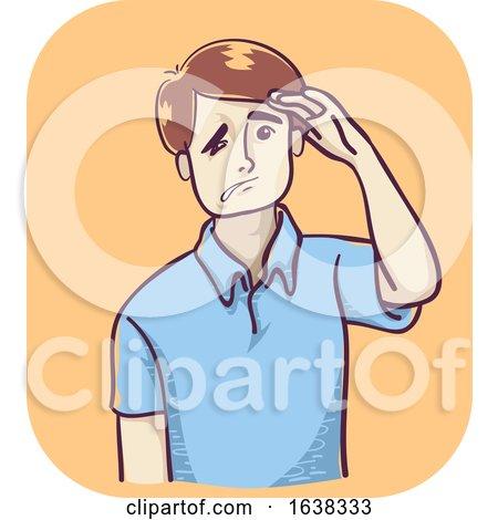 Man Stroke Face Drop Illustration by BNP Design Studio