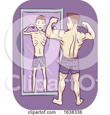 Man Symptom Feeling Thin Illustration by BNP Design Studio