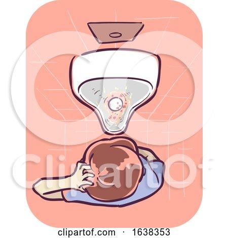 Man Symptom Blood in Urine Illustration by BNP Design Studio