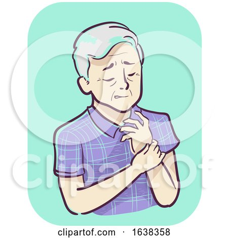 Senior Man Symptom Joint Pain Wrist Illustration by BNP Design Studio