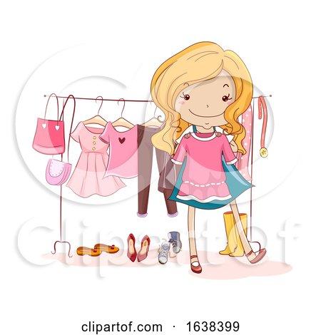Kid Girl Capsule Wardrobe Illustration by BNP Design Studio