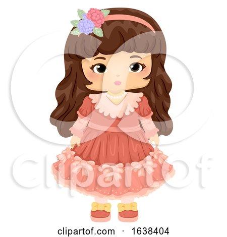 Kid Girl Doll Victorian Illustration by BNP Design Studio