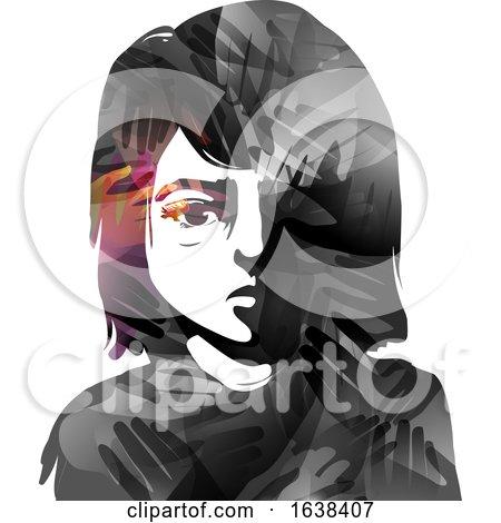 Kid Girl Struggles Hands Illustration by BNP Design Studio