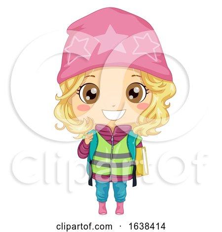 Kid Girl Student Sweden Illustration by BNP Design Studio