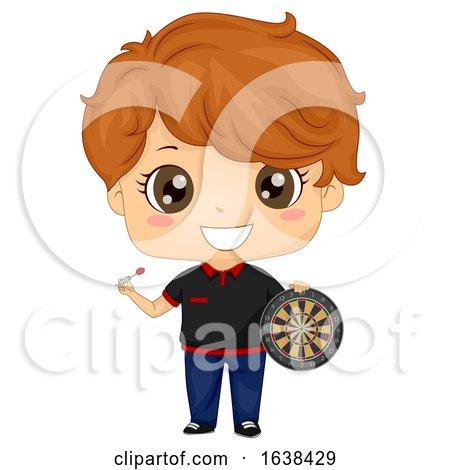 Kid Boy Darts Player Outfit Illustration by BNP Design Studio
