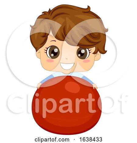 Kid Boy Exercise Ball Illustration by BNP Design Studio