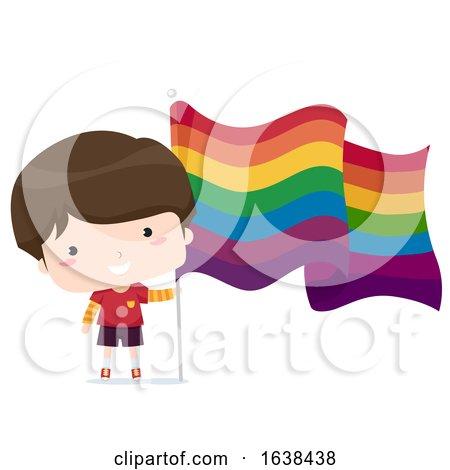 Boy with LGBT Flag Illustration by BNP Design Studio