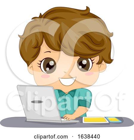 Kid Boy Mobile App Developer Illustration by BNP Design Studio