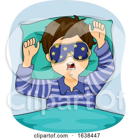 Kid Boy Sleep Eye Mask Illustration by BNP Design Studio
