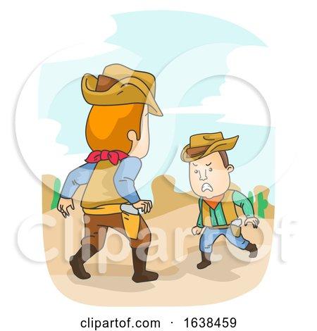 Man Cowboy Duel Illustration by BNP Design Studio