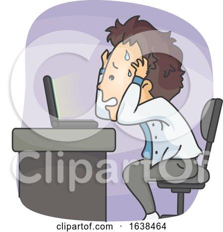 Man Laptop Problem Illustration by BNP Design Studio