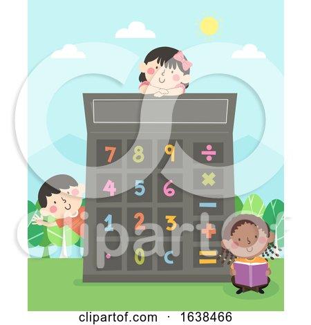 Kids Numbers Calculator Illustration by BNP Design Studio