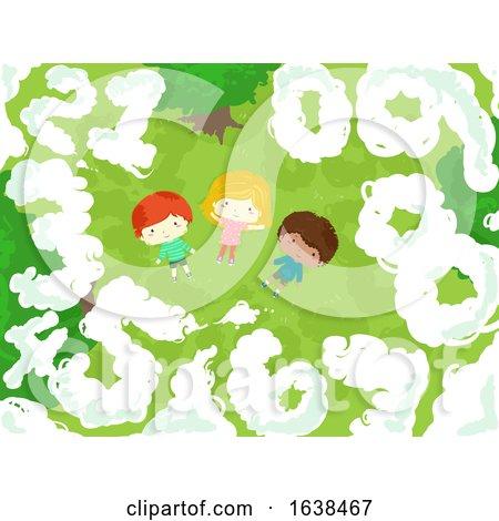 Kids Numbers Clouds Illustration by BNP Design Studio