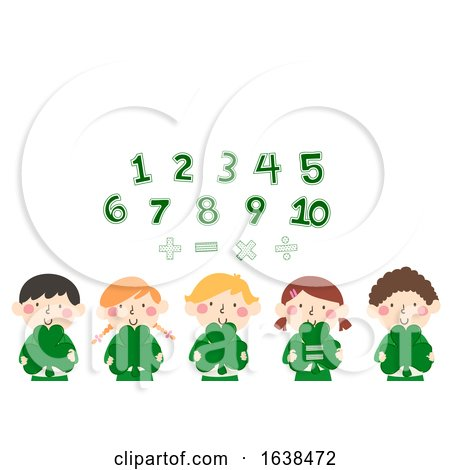 Kids Clovers Numbers Math Illustration by BNP Design Studio