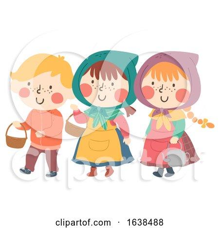 Kids Sweden Easter Witch Illustration by BNP Design Studio