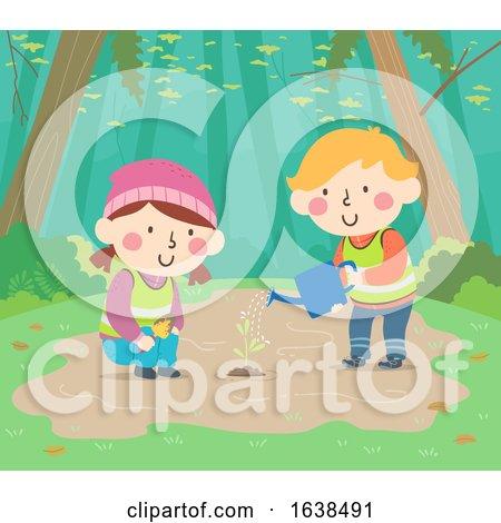 Kids Sweden Nature Plant Tree Illustration by BNP Design Studio