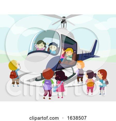 Stickman Kids Helicopter Illustration by BNP Design Studio