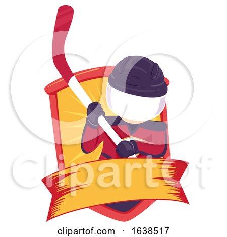 Kid Junior Hockey Ribbon Illustration by BNP Design Studio