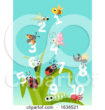 Bugs Insects Numbers Count Illustration by BNP Design Studio