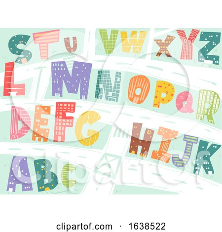 Buildings Alphabet Illustration by BNP Design Studio