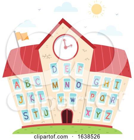 School Windows Alphabet Illustration by BNP Design Studio