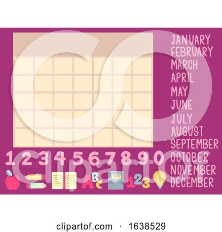 Calendar School Elements Illustration by BNP Design Studio