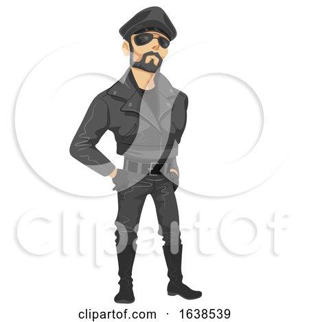 Man Sub Culture Leather Man Illustration by BNP Design Studio
